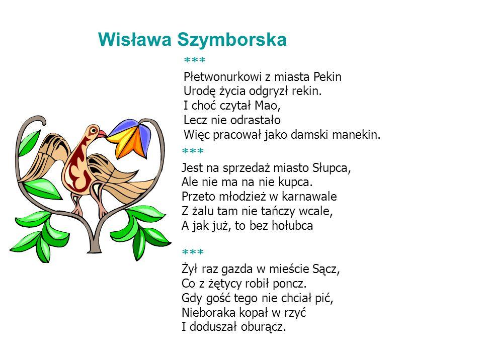 Wisława Szymborska *** Płetwonurkowi z miasta Pekin