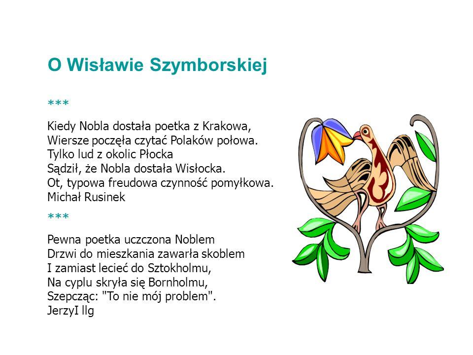 O Wisławie Szymborskiej