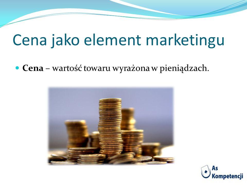 Cena jako element marketingu
