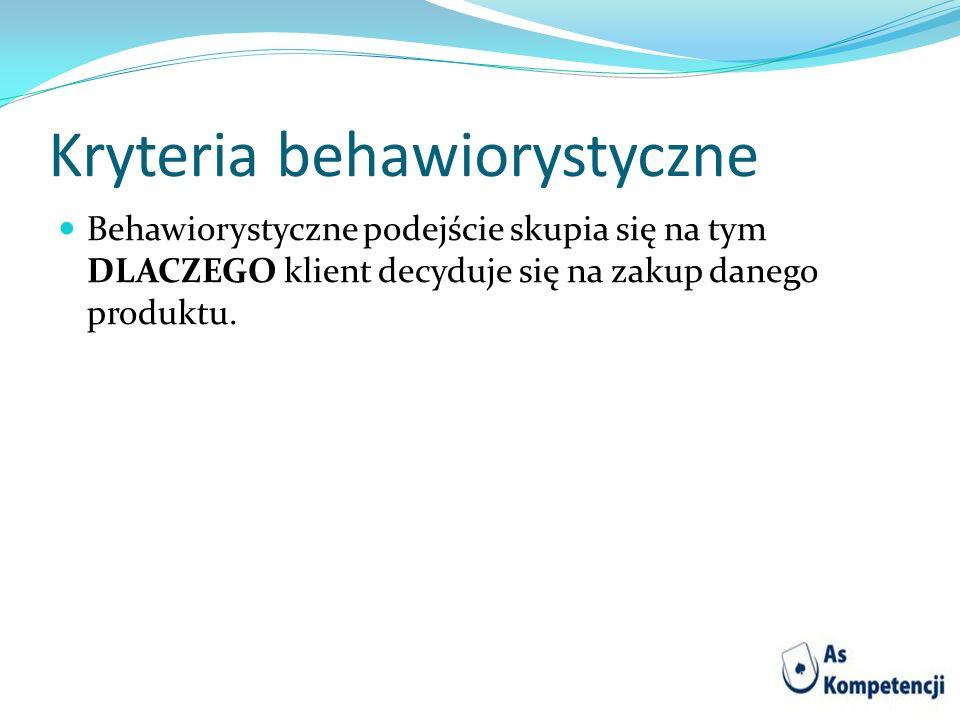 Kryteria behawiorystyczne