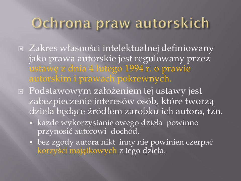 Ochrona praw autorskich