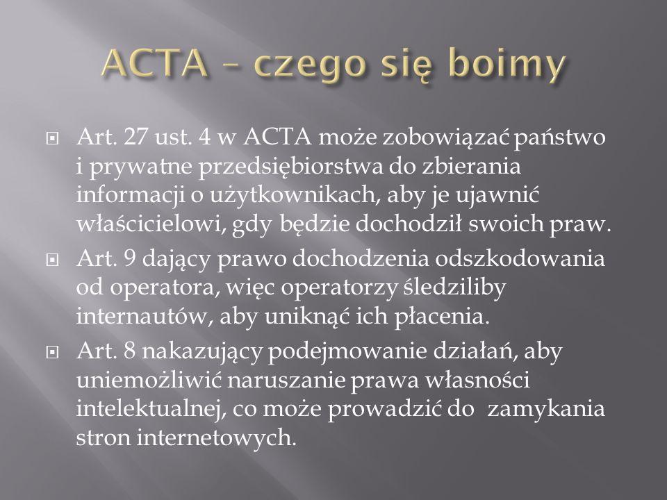 ACTA – czego się boimy