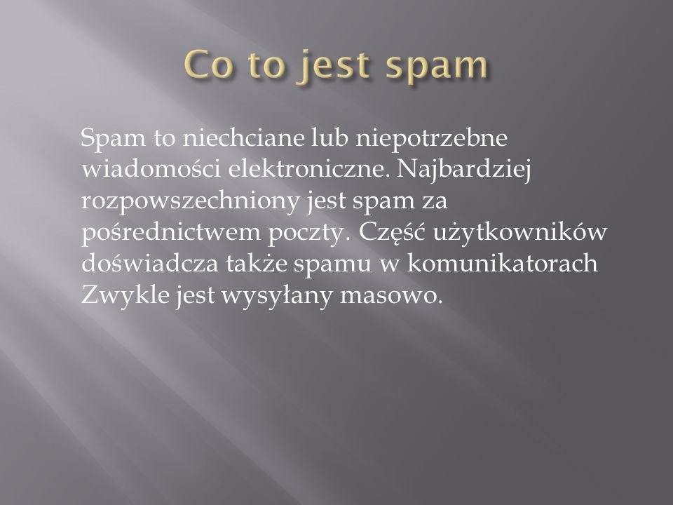 Co to jest spam