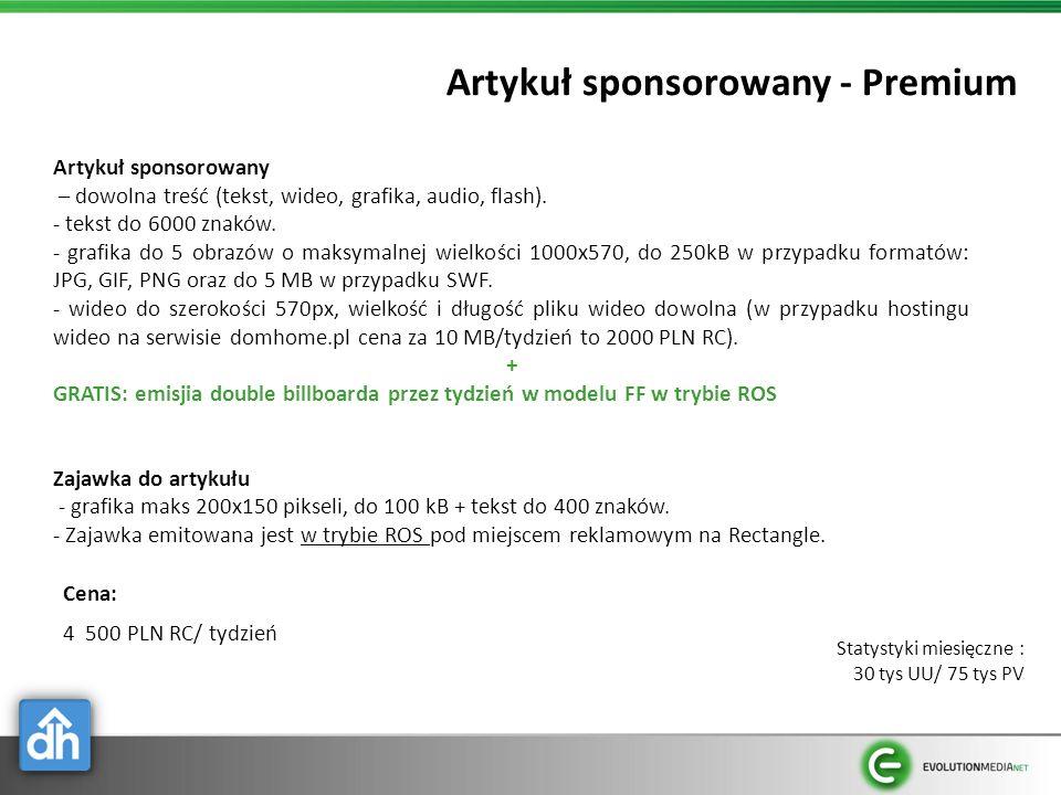 Artykuł sponsorowany - Premium