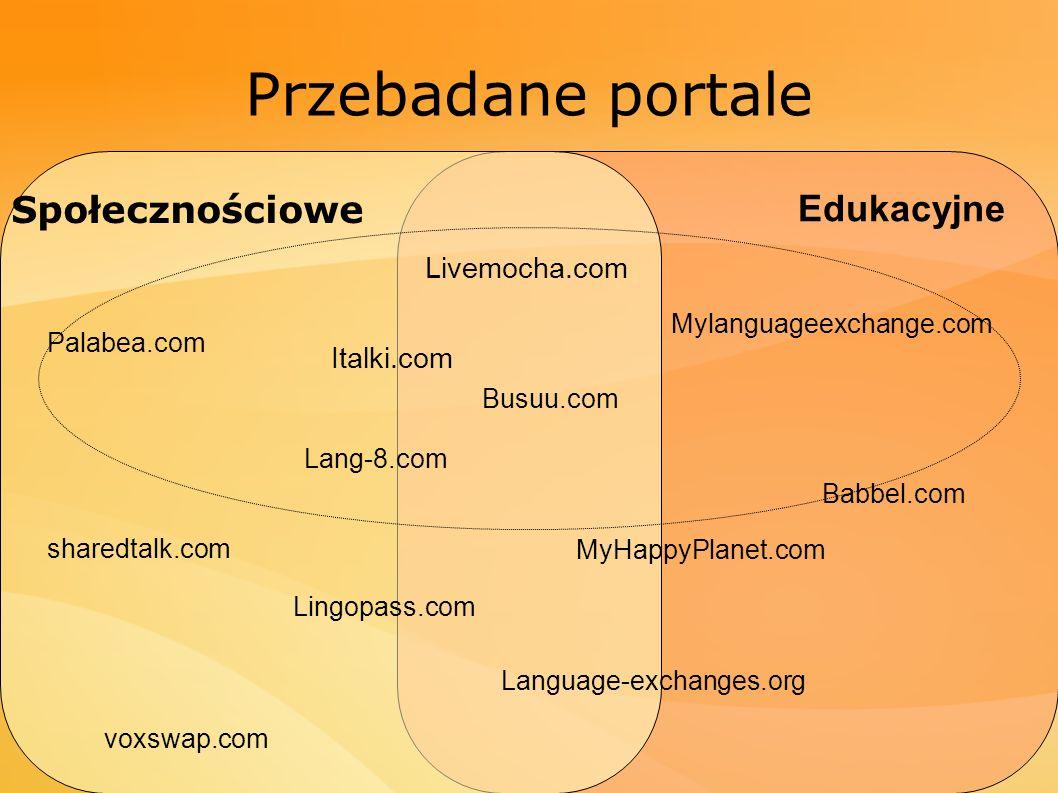 Przebadane portale Społecznościowe Edukacyjne Livemocha.com Italki.com