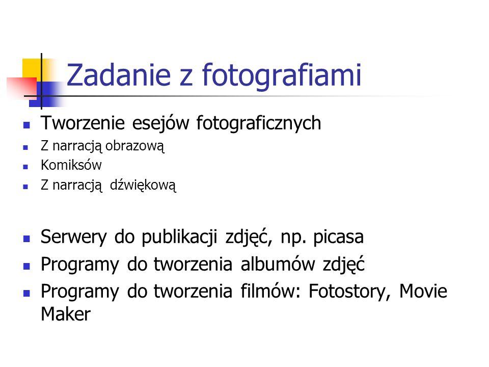 Zadanie z fotografiami