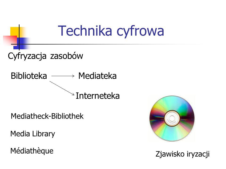 Technika cyfrowa Cyfryzacja zasobów Biblioteka Mediateka Interneteka