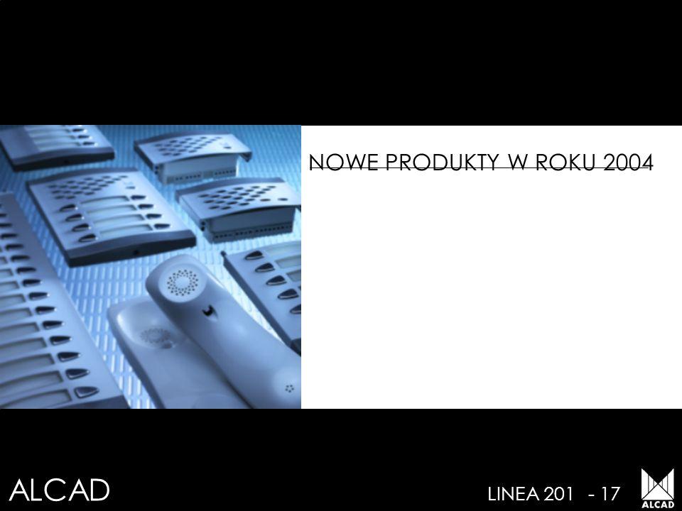 NOWE PRODUKTY W ROKU 2004 LINEA 201