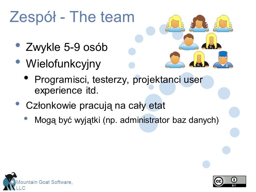Zespół - The team Zwykle 5-9 osób Wielofunkcyjny