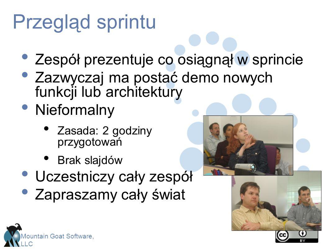 Przegląd sprintu Zespół prezentuje co osiągnął w sprincie