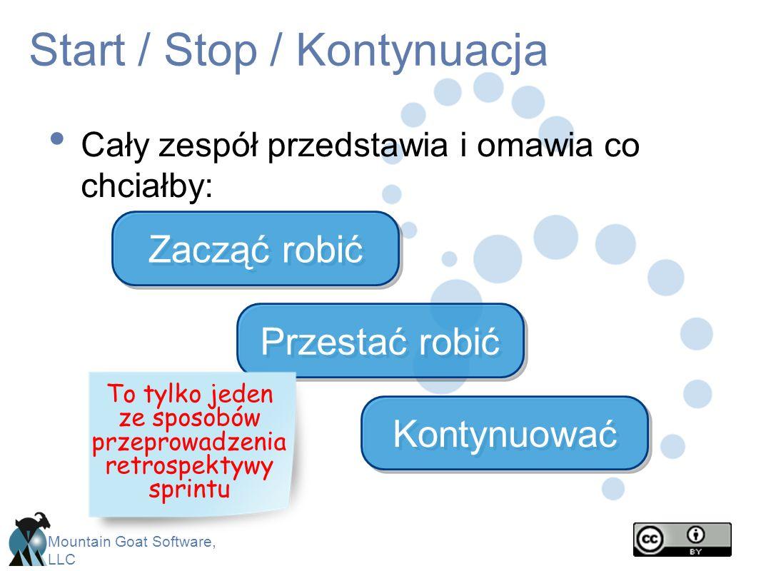 Start / Stop / Kontynuacja