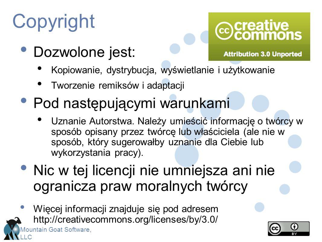 Copyright Dozwolone jest: Pod następującymi warunkami