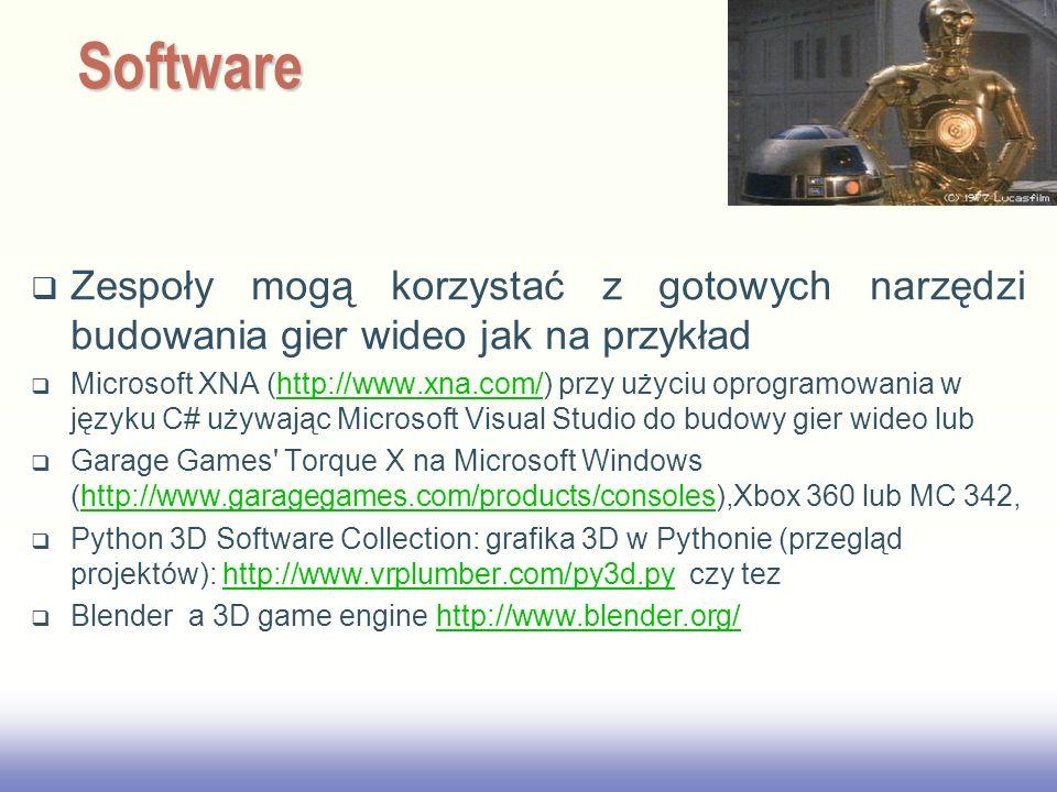 2017/3/28 Software. Zespoły mogą korzystać z gotowych narzędzi budowania gier wideo jak na przykład.