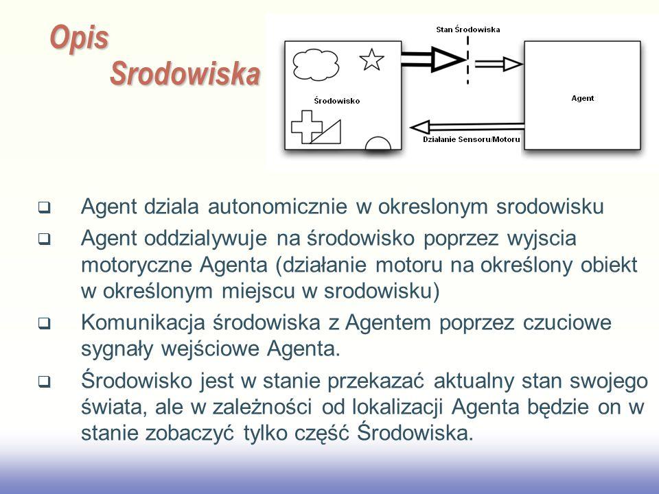 Opis Srodowiska Agent dziala autonomicznie w okreslonym srodowisku