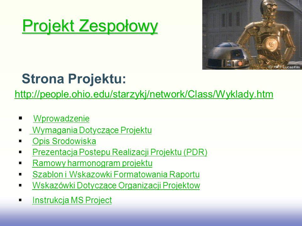Projekt Zespołowy Strona Projektu: Wprowadzenie