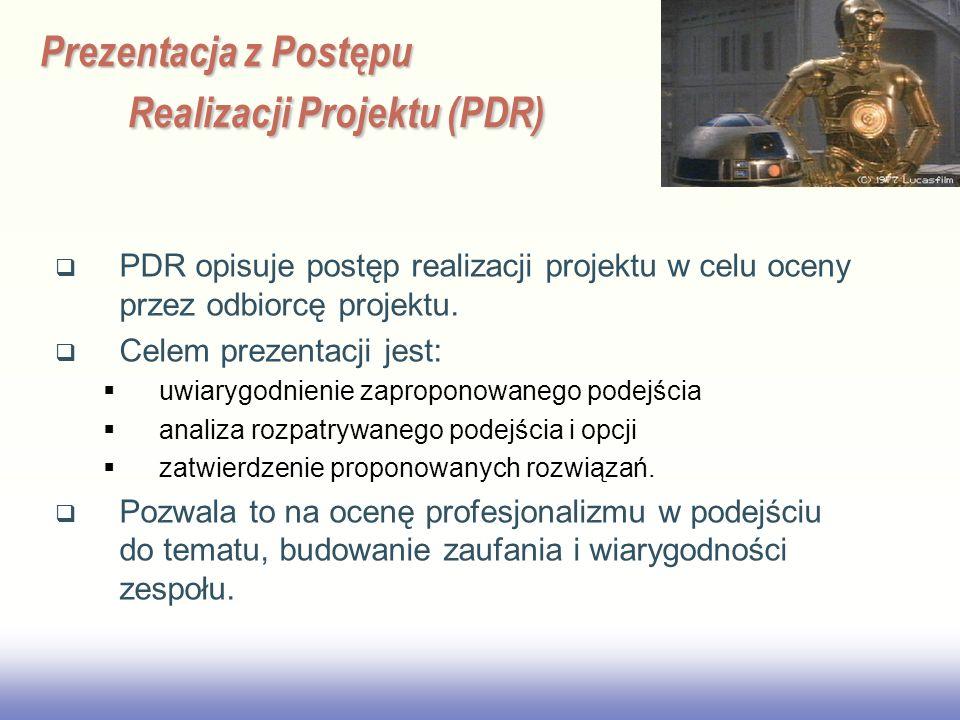 Prezentacja z Postępu Realizacji Projektu (PDR)