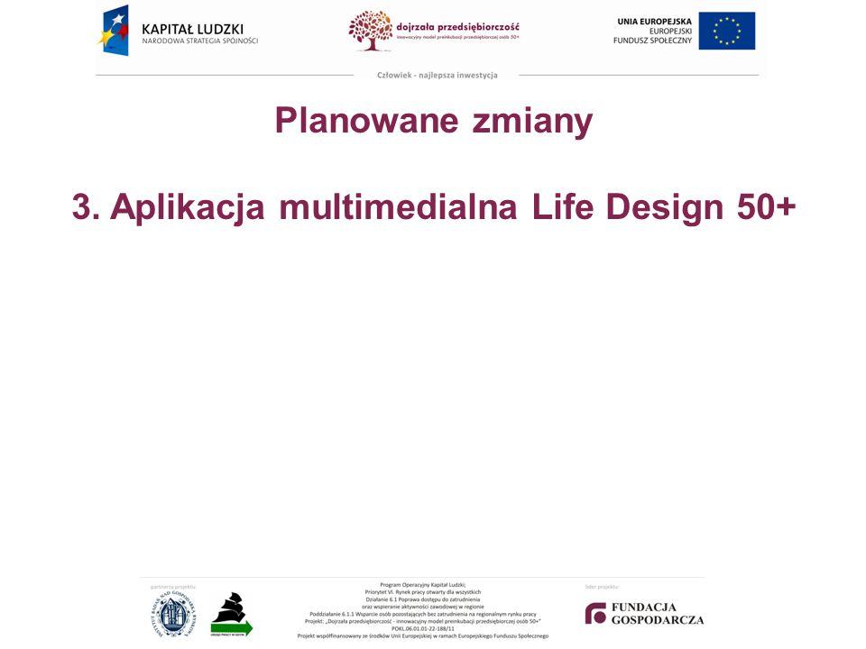 Planowane zmiany 3. Aplikacja multimedialna Life Design 50+