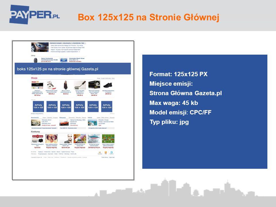 Box 125x125 na Stronie Głównej