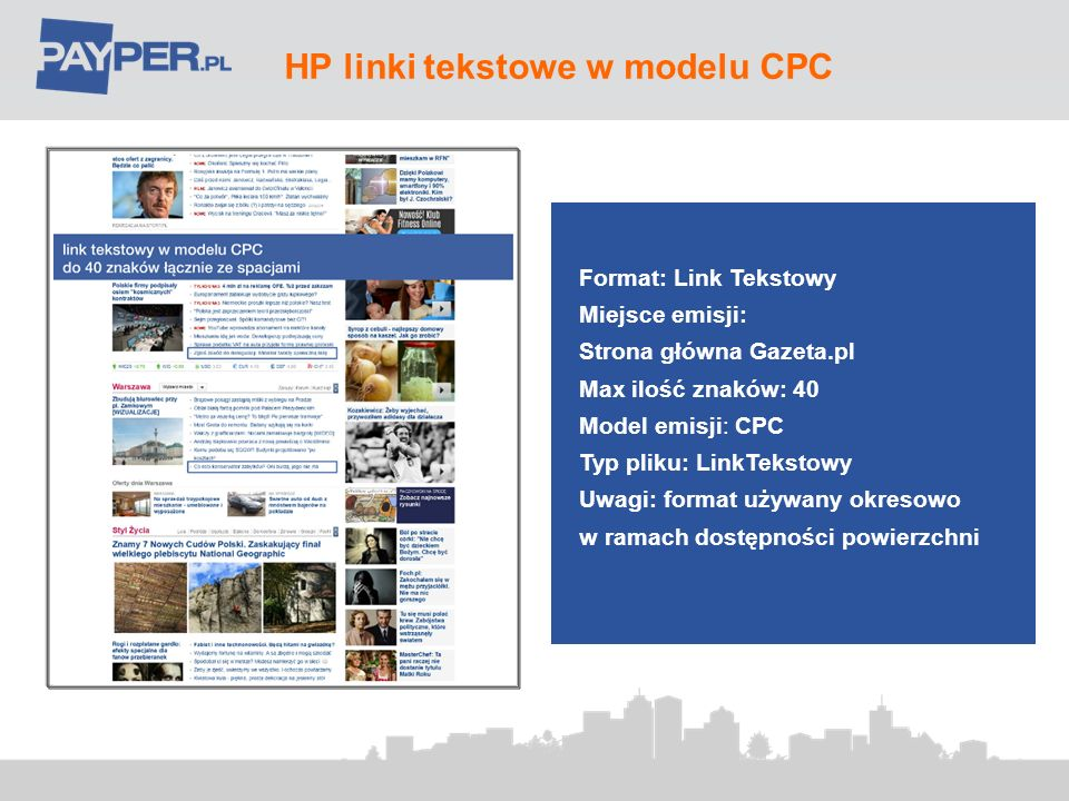 HP linki tekstowe w modelu CPC
