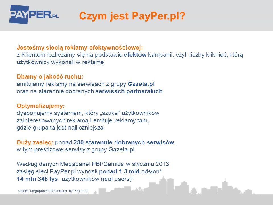 Czym jest PayPer.pl Jesteśmy siecią reklamy efektywnościowej: