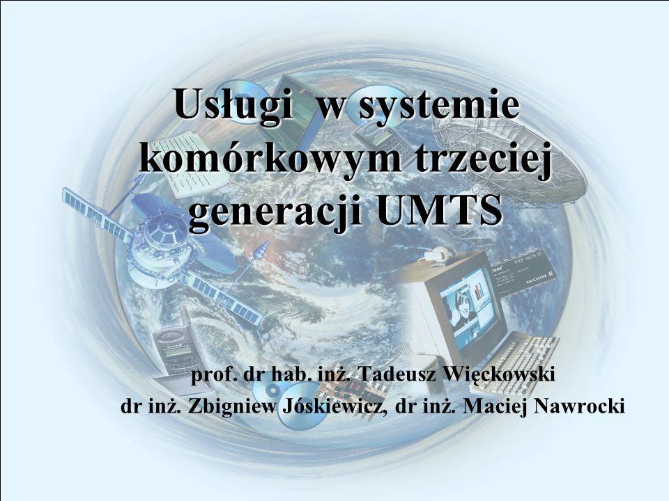 Usługi w systemie komórkowym trzeciej generacji UMTS