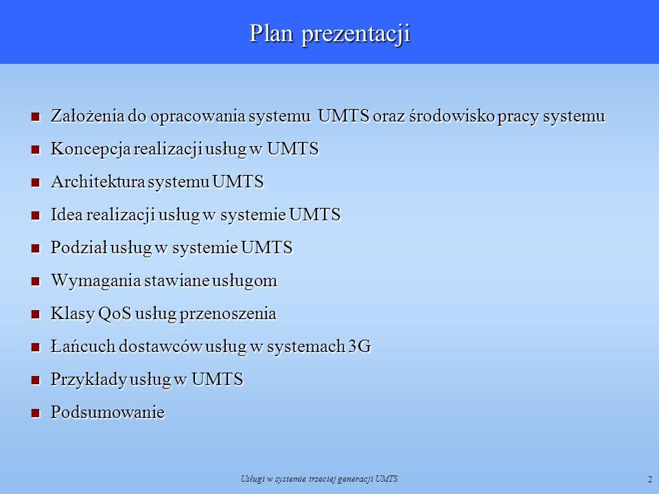 Usługi w systemie trzeciej generacji UMTS