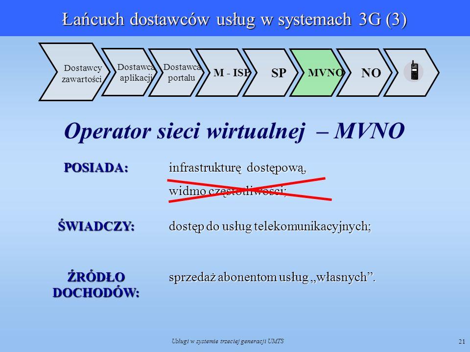 Łańcuch dostawców usług w systemach 3G (3)