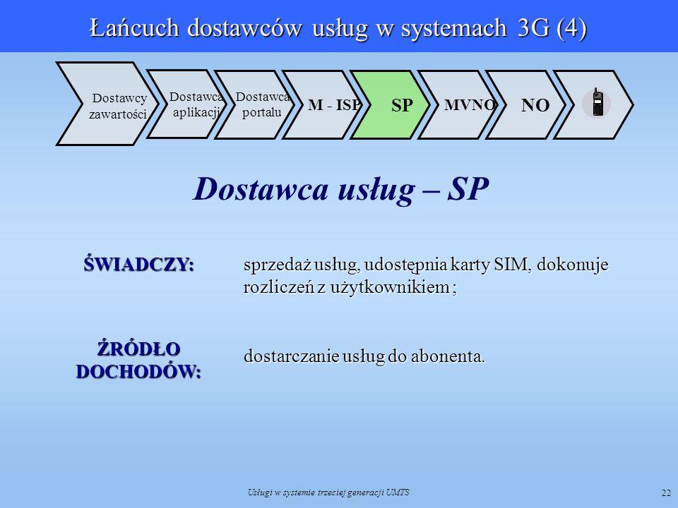 Łańcuch dostawców usług w systemach 3G (4)