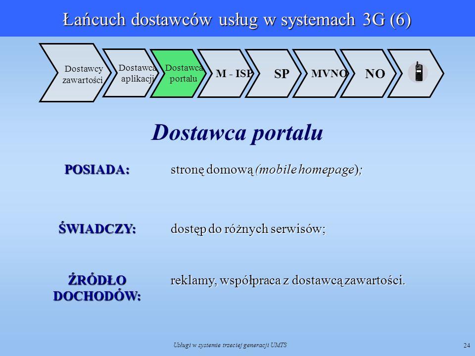 Łańcuch dostawców usług w systemach 3G (6)
