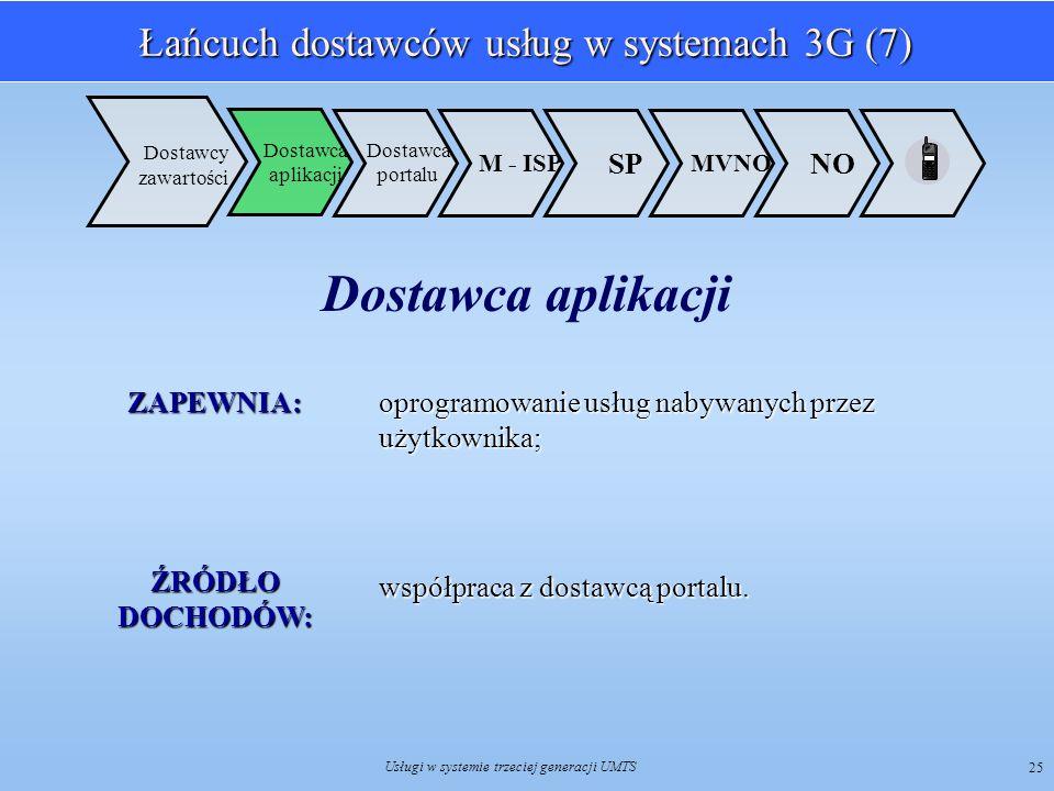 Łańcuch dostawców usług w systemach 3G (7)