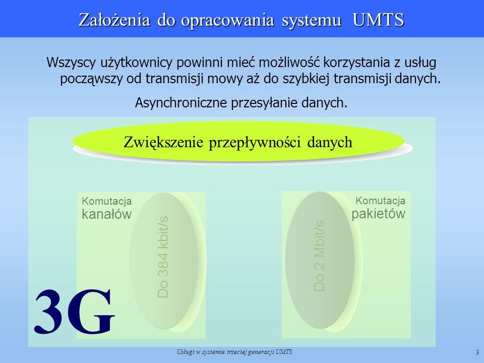 Założenia do opracowania systemu UMTS