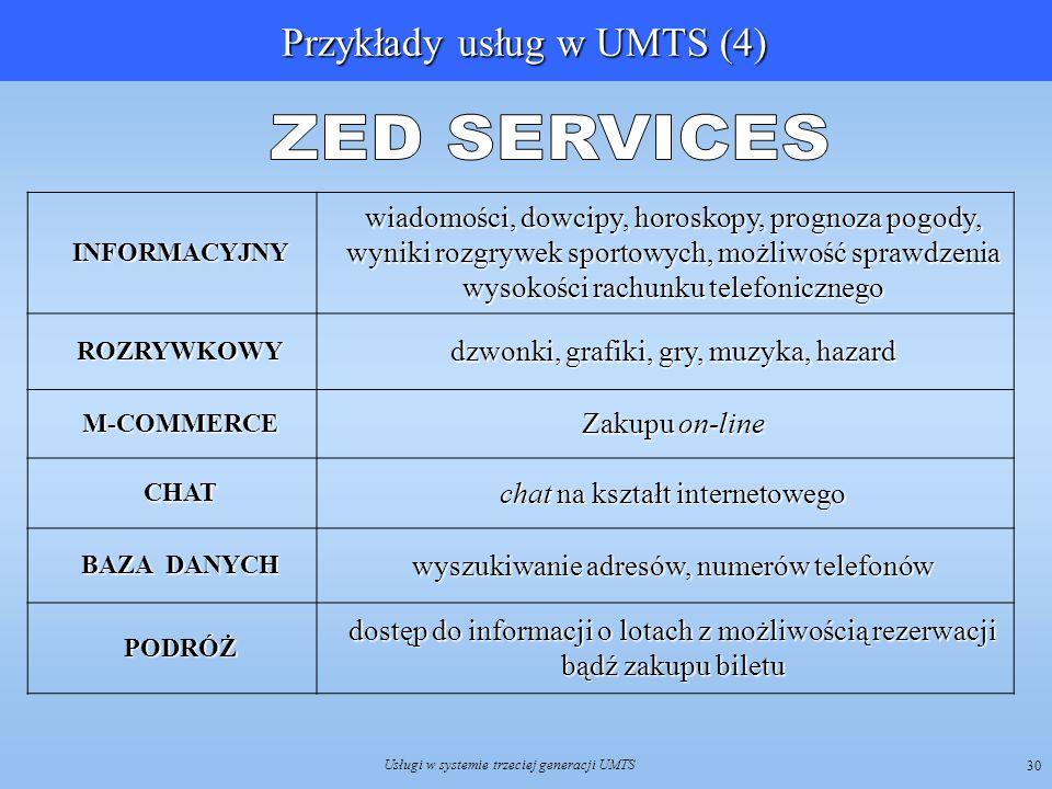 Przykłady usług w UMTS (4)