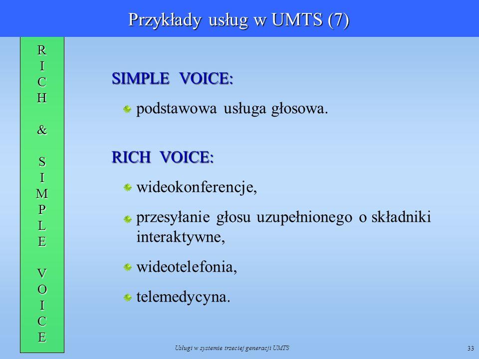 Przykłady usług w UMTS (7)