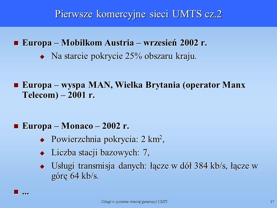 Pierwsze komercyjne sieci UMTS cz.2
