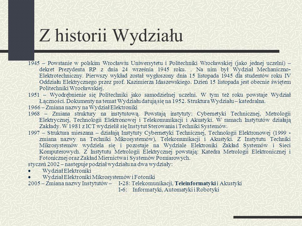 Z historii Wydziału