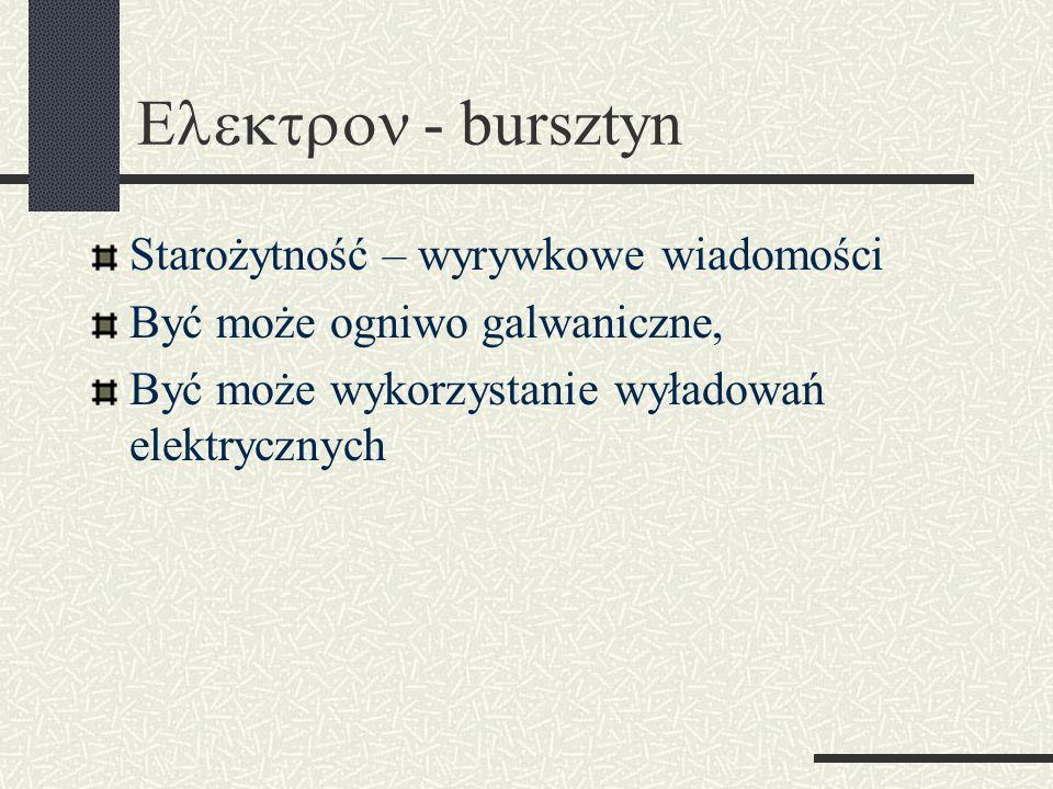 Elektron - bursztyn Starożytność – wyrywkowe wiadomości