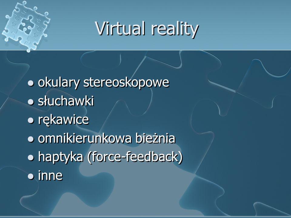 Virtual reality okulary stereoskopowe słuchawki rękawice
