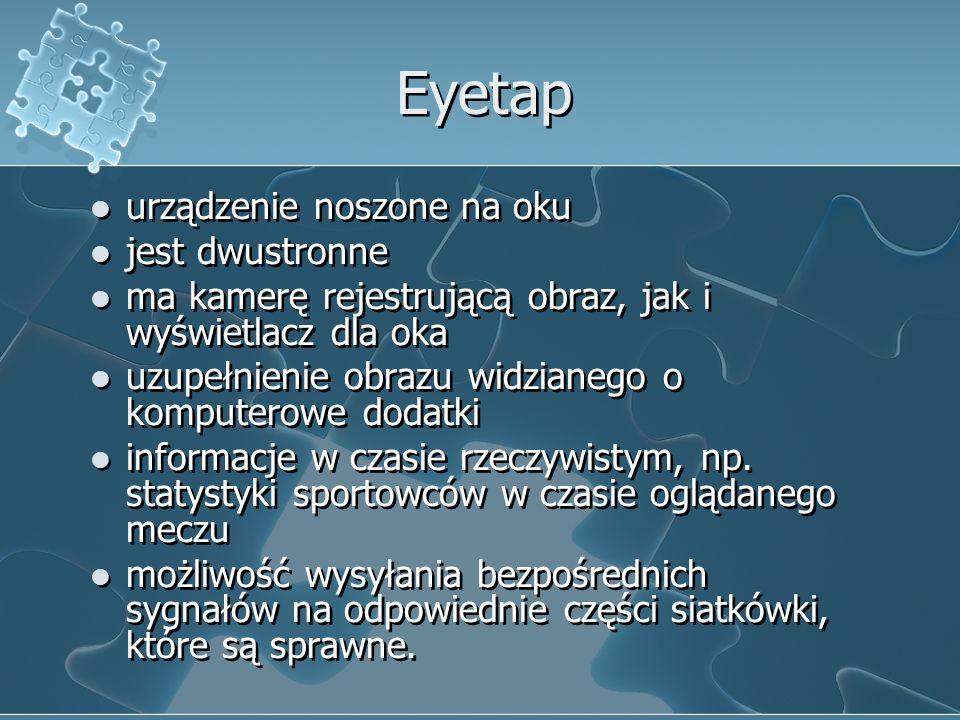 Eyetap urządzenie noszone na oku jest dwustronne