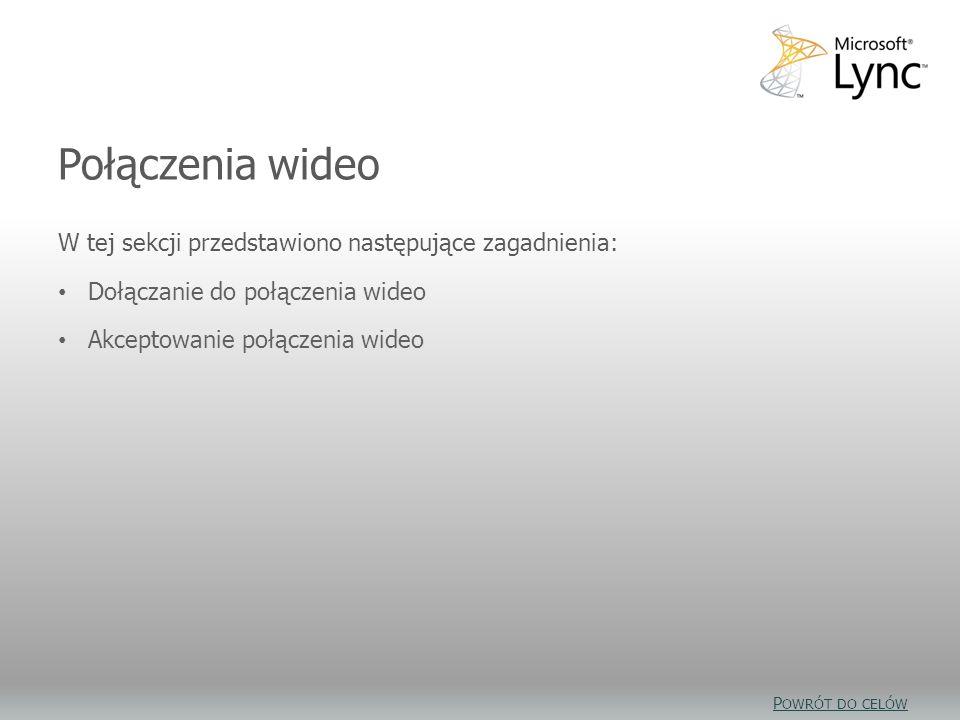 Połączenia wideo — cele