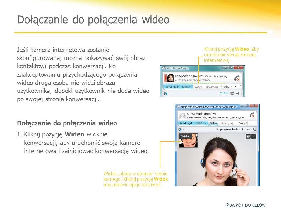 Dołączanie do połączenia wideo