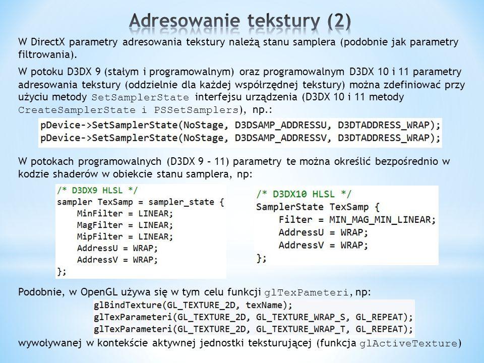 Adresowanie tekstury (2)