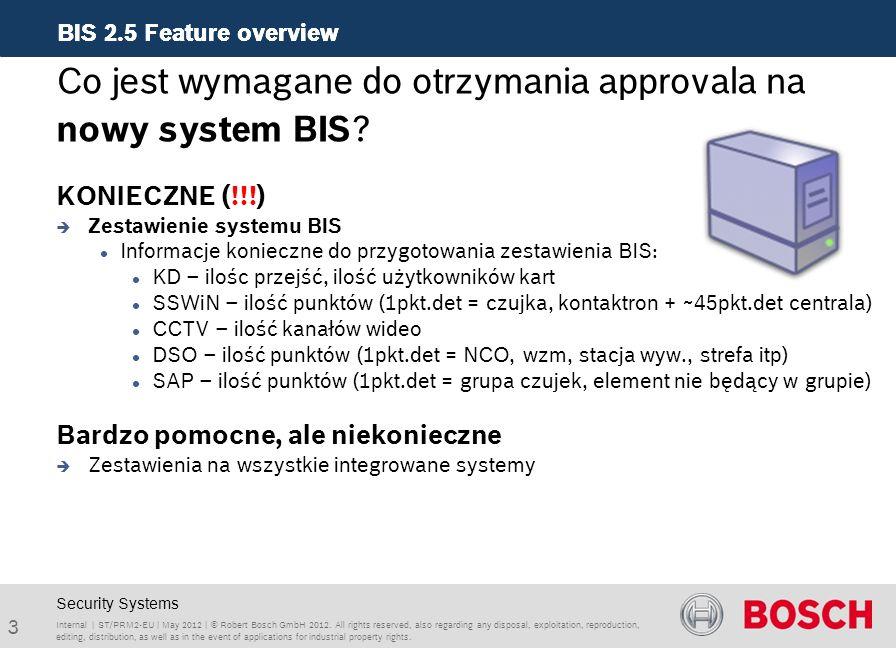 Co jest wymagane do otrzymania approvala na nowy system BIS