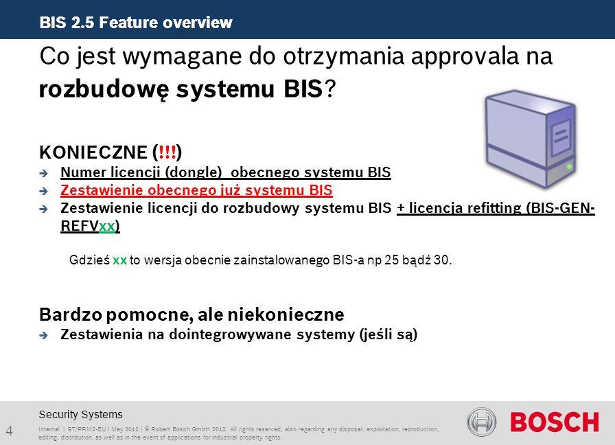 Co jest wymagane do otrzymania approvala na rozbudowę systemu BIS