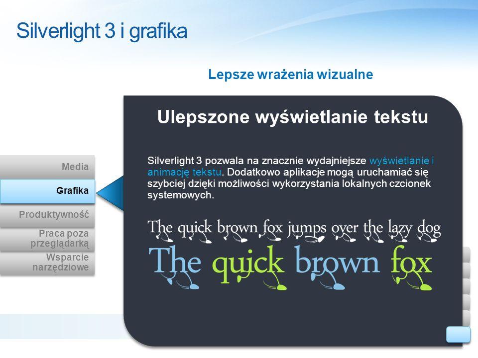 Lepsze wrażenia wizualne Ulepszone wyświetlanie tekstu