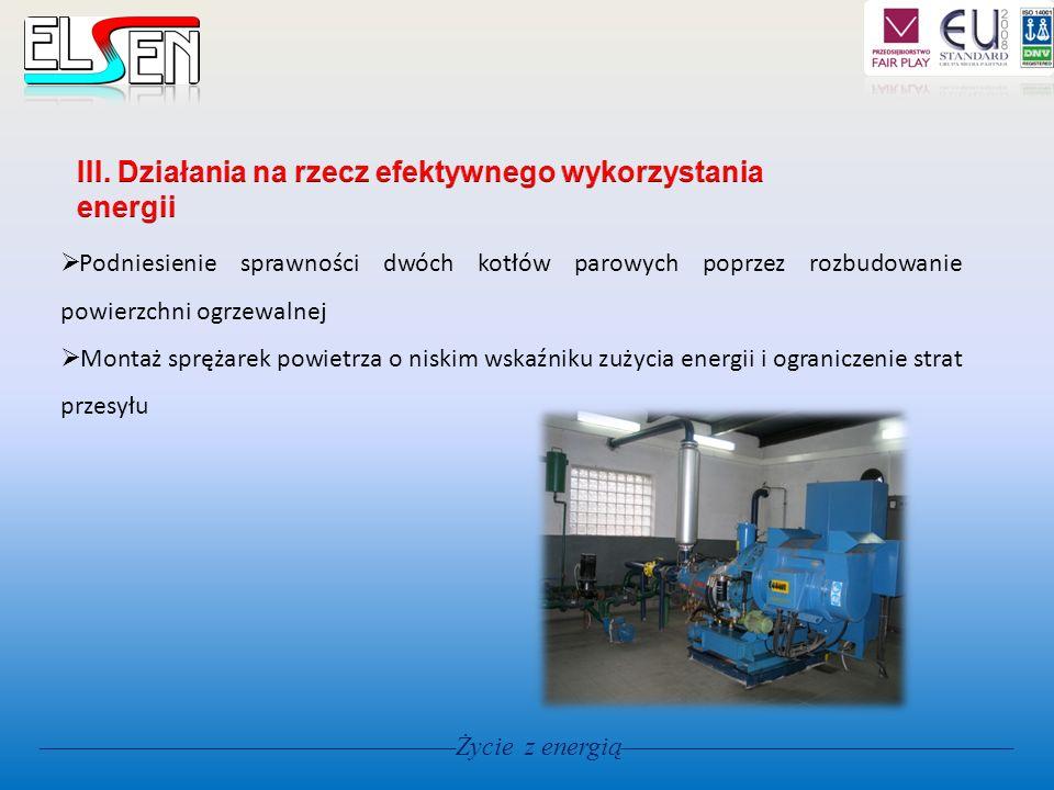 III. Działania na rzecz efektywnego wykorzystania energii