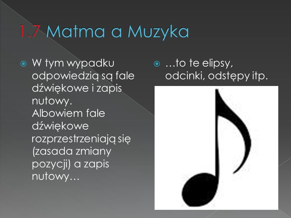 1.7 Matma a Muzyka