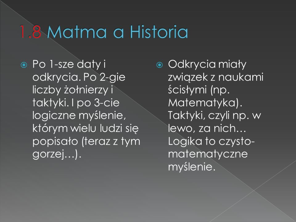 1.8 Matma a Historia