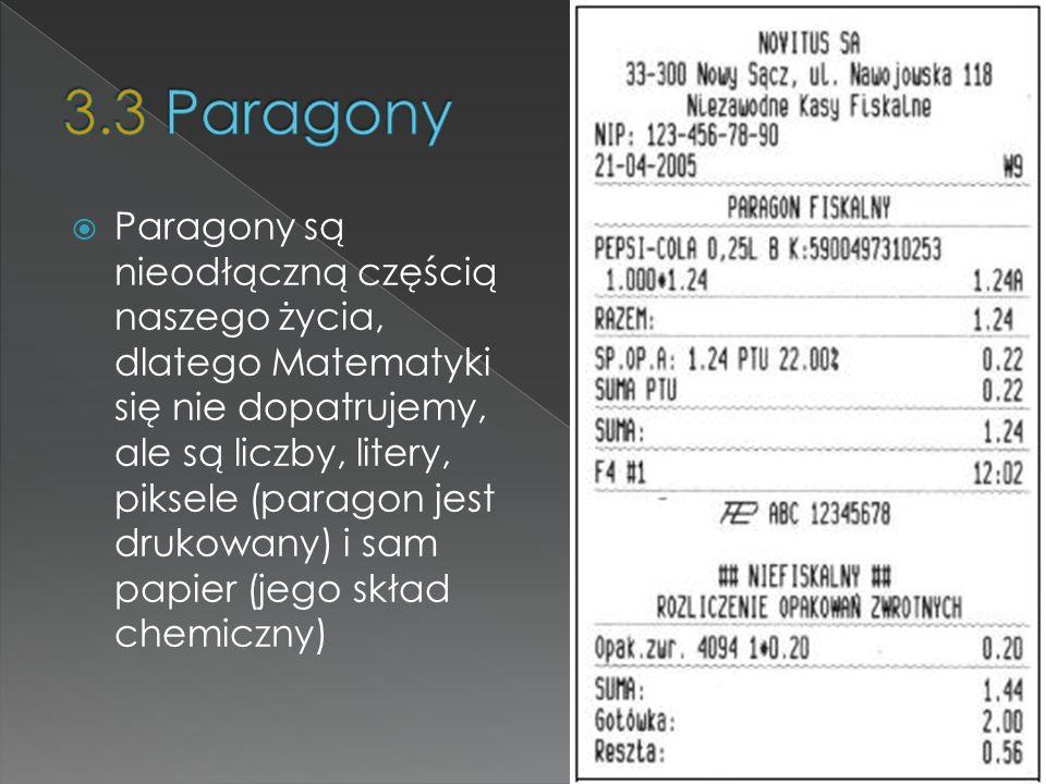 3.3 Paragony