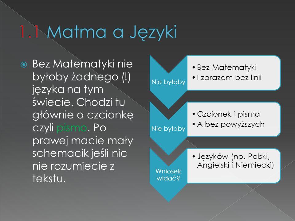 1.1 Matma a Języki