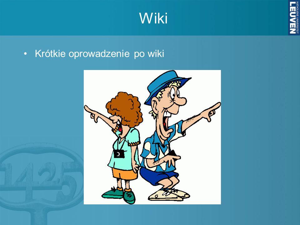 Wiki Krótkie oprowadzenie po wiki